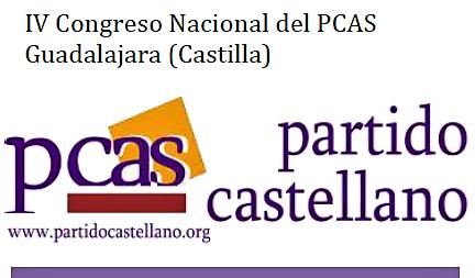 Cartel del IV Congreso Nacional del Partido Castellano, a realizar en Guadalajara (Castilla) el 21 de Octubre de 2017