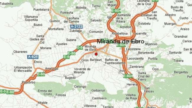 Mapa de Miranda de Ebro y su comarca