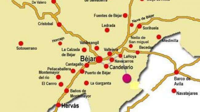 Mapa de Béjar y Alrededores