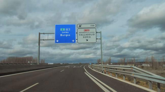 Autovía A-5 a su paso por la provincia de Burgos