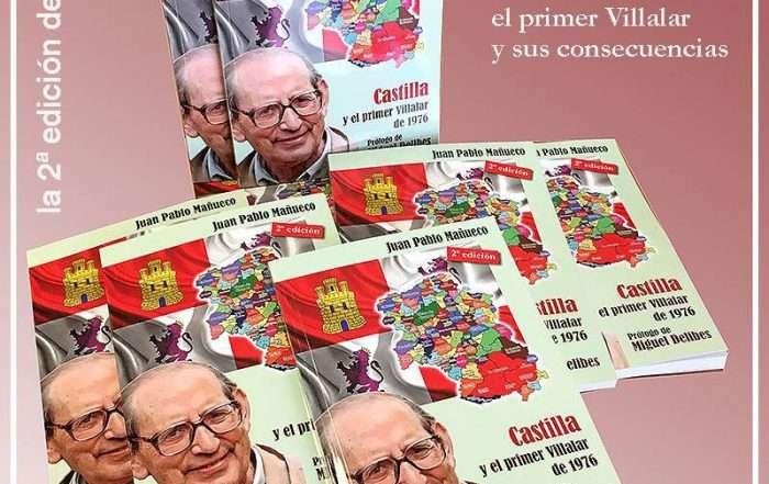 """Cartulina del libro """"Castilla y el primer Villalar"""", de Juan Pablo Mañueco"""
