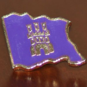 "Insignia ""pin"" de la Bandera de Castilla"