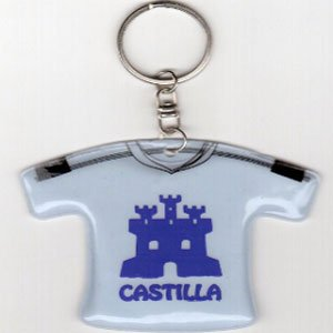 Llavero en forma de camiseta con el logo de Castilla