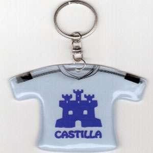 Llavero en forma de camiseta con el logo de Castilla