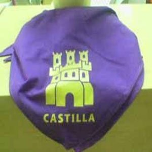 Pañuelo morado con estampado de Castilla