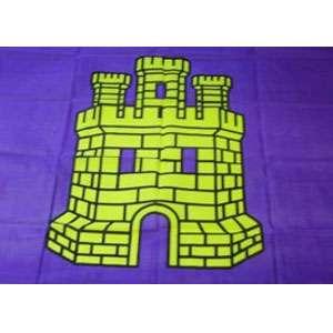 Pendón Morado con Castillo en el centro