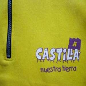"""Sudadera Amarilla Abierta con logo """"Castilla, nuestra tierra"""""""