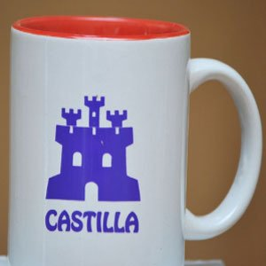 Taza Blanca on el Icono de Castilla Morado