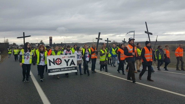 Manifestación con la presencia del PCAS.