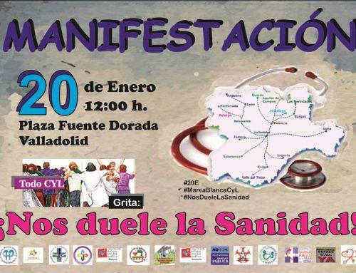 EL PARTIDO CASTELLANO (PCAS) apoya la manifestación por una Sanidad Pública de Calidad en Castilla y León el sábado 20 de Enero.