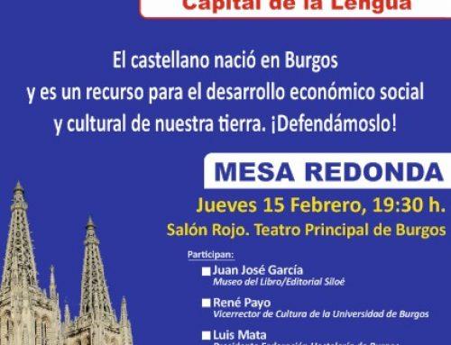 El PARTIDO CASTELLANO (PCAS) inicia acciones para reclamar la Capitalidad de la Lengua para Burgos con una Mesa redonda en el Teatro Principal.