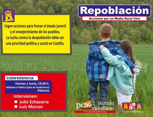 El PARTIDO CASTELLANO- TIERRA COMUNERA (PCAS-TC) denuncia la gravedad de la despoblación en un acto público en Palencia.