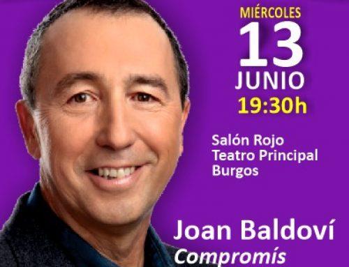 Baldoví, diputado de Compromís hablará en Burgos del papel de Castilla y de Valencia en la España Plural.
