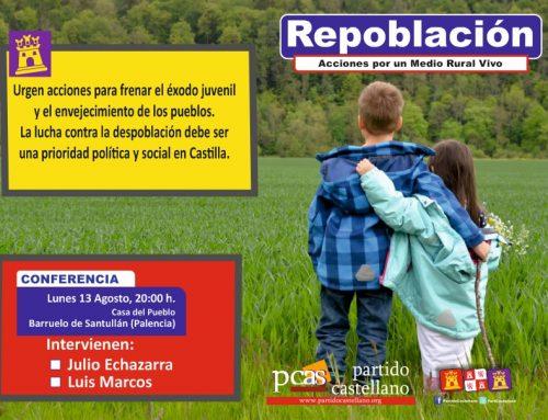 El PARTIDO CASTELLANO- TIERRA COMUNERA (PCAS-TC) denuncia la gravedad de la despoblación en un acto público en Barruelo de Santullán