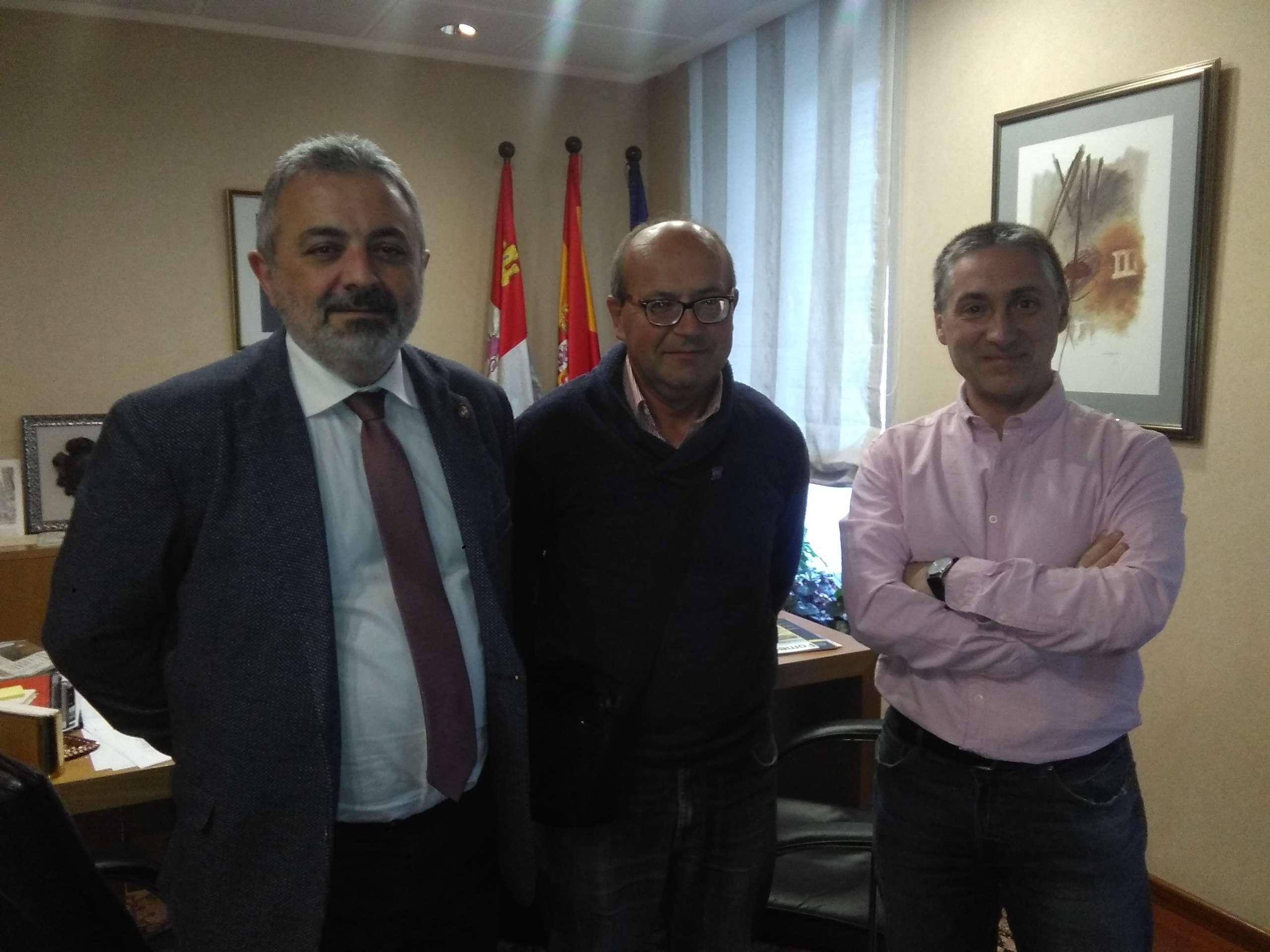 Pedro de la Fuente, Benito Calzada y Domingo Hernández
