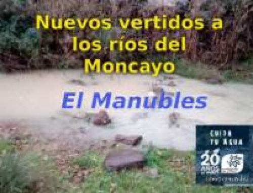El río Manubles (Borobia) nuevamente baja turbio por presuntos vertidos mineros