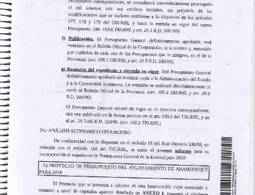(PCAS-TC) en Jadraque denuncia graves errores en los últimos presupuestos presentados por el Partido Popular en el ayuntamiento