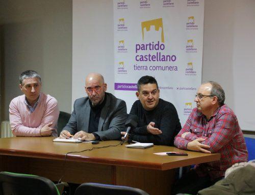 Visita de responsables de PCAS-TC en la provincia de Burgos a Miranda de Ebro, junto con senadores de Compromís