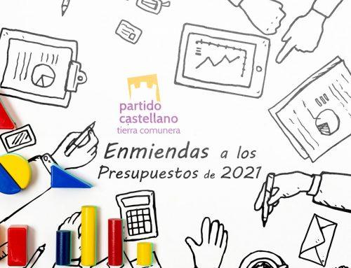 El PARTIDO CASTELLANO-TIERRA COMUNERA (PCAS-TC) presenta enmiendas a los Presupuestos Generales del Estado de 2021 por importe de casi 1.000 millones de euros