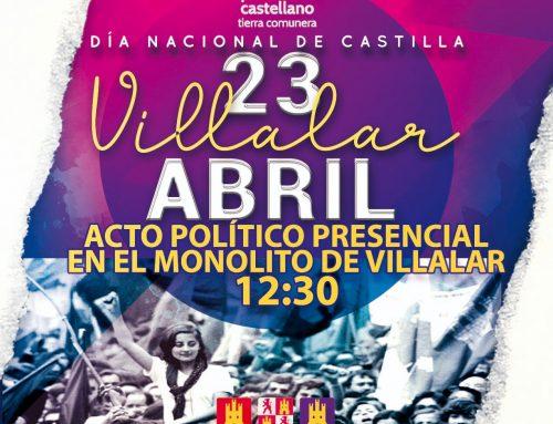 El Partido Castellano Tierra Comunera (PCAS-TC) celebrará el V Centenario de Los Comuneros el 23 de Abril en Villalar con una conmemoración castellanista y social